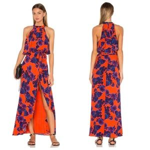 NEW Lovers + Friends Golden Ray Maxi Dress S